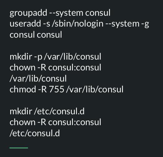 Répertoire et user consul